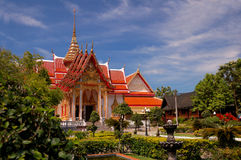 Wat Chalong temple. Phuket island. Thailand. Royalty Free Stock Photo