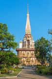 Wat Chalong temple in Phuket Royalty Free Stock Images