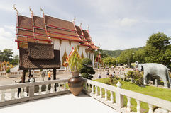 Wat Chalong temple in Phuket, Thailand Royalty Free Stock Image