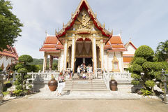 Wat Chalong temple in Phuket, Thailand Royalty Free Stock Photos