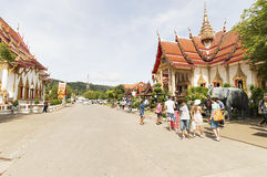 Wat Chalong temple in Phuket, Thailand Royalty Free Stock Images
