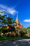 Wat Chalong temple at sunny day Phuket Thailand Stock Image