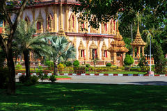 Wat Chalong temple at sunny day Phuket Thailand Stock Photography