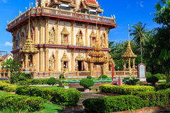 Wat Chalong temple at sunny day Phuket Thailand Stock Photo