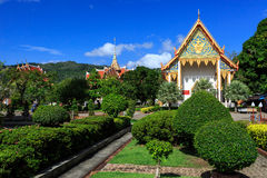 Wat Chalong temple at sunny day Phuket Thailand Royalty Free Stock Photo