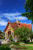 Wat Chalong temple at sunny day Phuket Thailand Royalty Free Stock Images