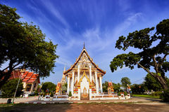 Wat Chalong temple at sunny evening Phuket Thailand Stock Photography