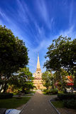 Wat Chalong temple at sunny evening Phuket Thailand Stock Images
