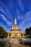 Wat Chalong temple at sunny evening Phuket Thailand Stock Photo