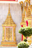 Wat Chalong temple in Thailand Royalty Free Stock Photography