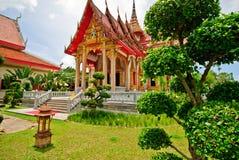 Wat Chalong Ubosot Fotografia Stock Libera da Diritti