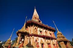 Tempio di Wat Chalong a Phuket Immagini Stock
