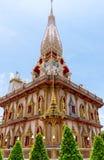 Wat Chalong un temple de point de repère de province de Phuket Images stock