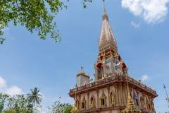 Wat Chalong un temple de point de repère de province de Phuket images libres de droits