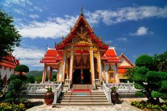 Wat Chalong or Wat Chaitharam Royalty Free Stock Photos