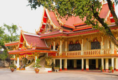 Wat Chan in Vientiane, Laos. Temple building at Wat Chan, also known as Wat Chanthaburi, in Vientiane, Laos stock images
