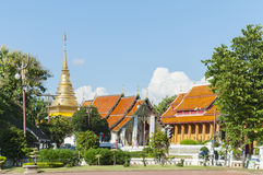 Wat Chang Kham, Nan Stockfotos