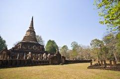 Wat Chang Lom. Ruin of Wat Chang Lom in Si Satchanalai Royalty Free Stock Images