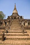 Wat Chang Lom Stock Photography
