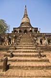 Wat Chang Lom. Ruin of Wat Chang Lom in Si Satchanalai Stock Photography