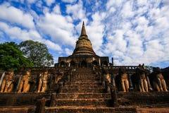 Wat Chang Lom immagini stock libere da diritti