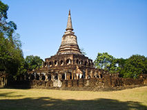 Wat Chang Lom al Si Satchanalai, Tailandia Immagine Stock