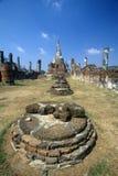 Wat Chang Lom Ancient Buddhist Temple at Sri Satchanaiai Historical Park, Thailand Stock Photos