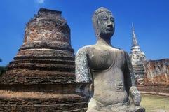 Wat Chang Lom Ancient Buddhist Temple at Sri Satchanaiai Historical Park, Thailand Royalty Free Stock Photos