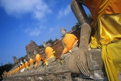 Wat Chang Lom Ancient Buddhist Temple at Sri Satchanaiai Historical Park, Thailand Royalty Free Stock Image