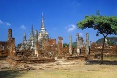 Wat Chang Lom Ancient Buddhist Temple at Sri Satchanaiai Historical Park, Thailand Royalty Free Stock Photo