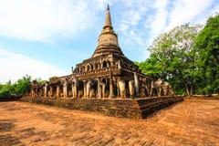Wat Chang Lom. Si Satchanalai Historical Park at Sukhothai Thailand Stock Photo