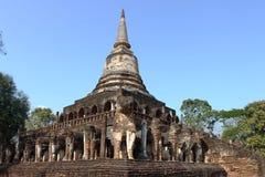 Wat Chang Lom, Si Satchanalai Historical Park, Thailand Stock Photo