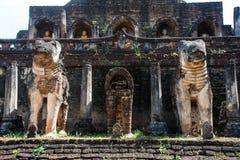 Wat Chang Lom at Srisatchanalai historical park in Sukhothai pro Royalty Free Stock Image