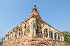 Wat Chang lom Sukhothai Historical Park ,Sukhothai ,Thailand Royalty Free Stock Photos