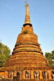 Elephant Stupa at Wat Chang Lom Royalty Free Stock Photo