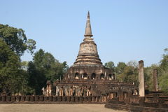 Wat Chang Lom, Sukhothai, Tailândia foto de stock royalty free