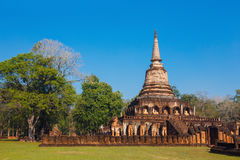 Wat Chang Lom Temple en el parque histórico del Si Satchanalai en Sukhothai, Tailandia Fotografía de archivo libre de regalías