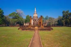 Wat Chang Lom Temple en el parque histórico del Si Satchanalai en Sukhothai, Tailandia Foto de archivo