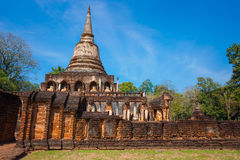 Wat Chang Lom Temple en el parque histórico del Si Satchanalai en Sukhothai, Tailandia Imagenes de archivo