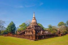 Wat Chang Lom Temple en el parque histórico del Si Satchanalai en Sukhothai, Tailandia Fotos de archivo libres de regalías