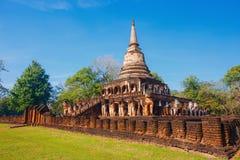 Wat Chang Lom Temple en el parque histórico del Si Satchanalai en Sukhothai, Tailandia Imagen de archivo