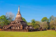Wat Chang Lom Temple en el parque histórico del Si Satchanalai en Sukhothai, Tailandia Fotografía de archivo