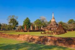 Wat Chang Lom Temple en el parque histórico del Si Satchanalai, un sitio del patrimonio mundial de la UNESCO en Sukhothai Fotos de archivo