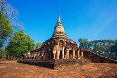 Wat Chang Lom Temple en el parque histórico del Si Satchanalai, un sitio del patrimonio mundial de la UNESCO en Sukhothai Fotos de archivo libres de regalías