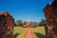 Wat Chang Lom Temple en el parque histórico del Si Satchanalai, un sitio del patrimonio mundial de la UNESCO en Sukhothai Imagen de archivo