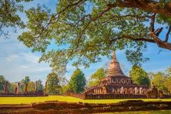 Wat Chang Lom Temple en el parque histórico del Si Satchanalai, un sitio del patrimonio mundial de la UNESCO en Sukhothai Fotografía de archivo libre de regalías