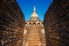 Wat Chang Lom Temple en el parque histórico del Si Satchanalai, un sitio del patrimonio mundial de la UNESCO en Sukhothai, Imagenes de archivo