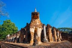 Wat Chang Lom Temple en el parque histórico del Si Satchanalai, un sitio del patrimonio mundial de la UNESCO en Sukhothai, Fotografía de archivo
