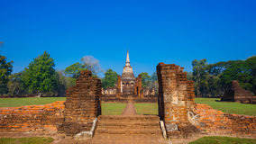 Wat Chang Lom Temple at Si Satchanalai Historical Park, a UNESCO world heritage site in Sukhotha, Thailand Stock Photo