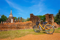 Wat Chang Lom Temple at Si Satchanalai Historical Park, a UNESCO world heritage site in Sukhotha, Thailand Stock Photography